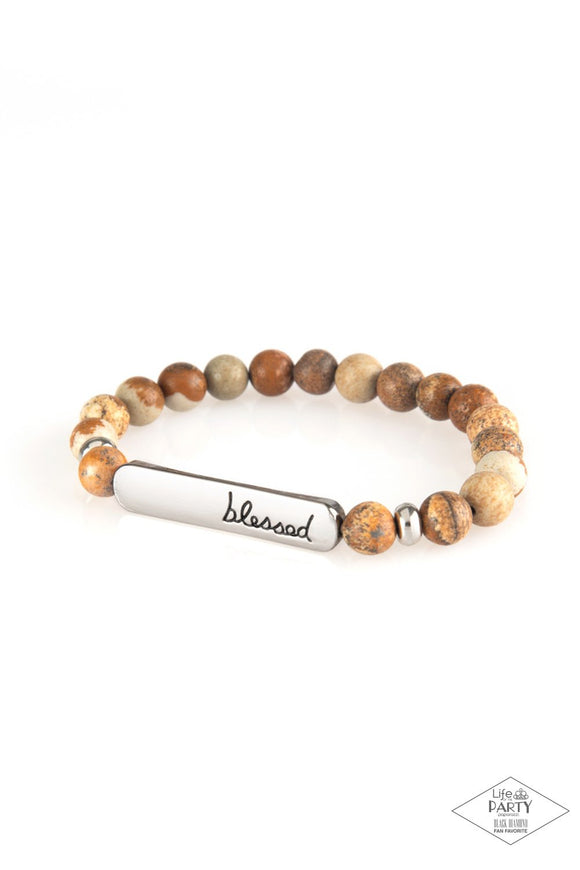 Born Blessed Brown Bracelet