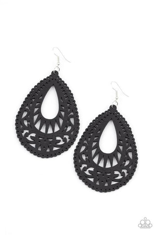 Zesty Zen Black Earrings