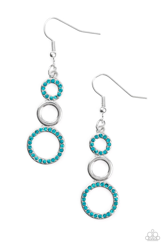 Bubble Bustle Blue Earrings