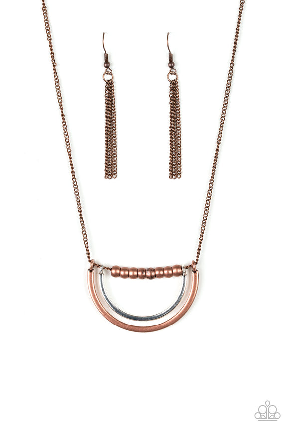 Artificial Arches Copper Necklace