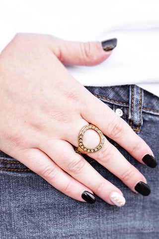 One-GLAM Band Brass Ring