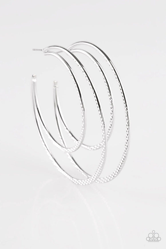 Drop It Like It's HAUTE Silver Hoop Earrings