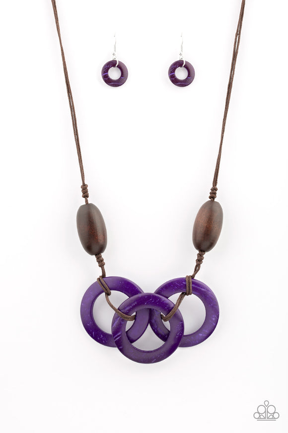 Bahama Drama Purple Necklace
