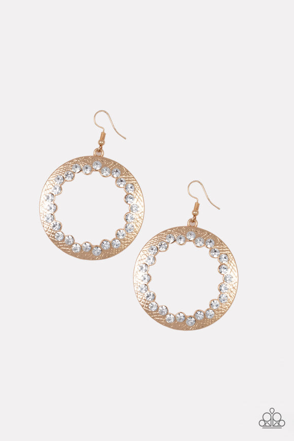 Gala Glitter Gold Earrings
