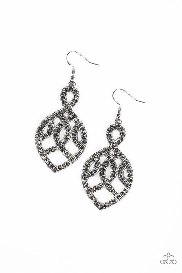 A Grand Statement Silver Earrings