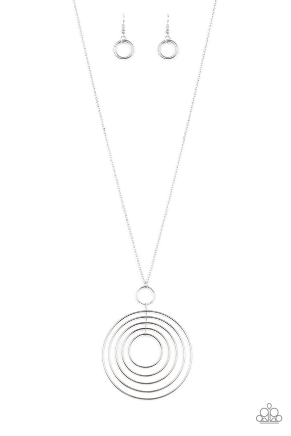 Running Circles In My Mind Silver Necklace
