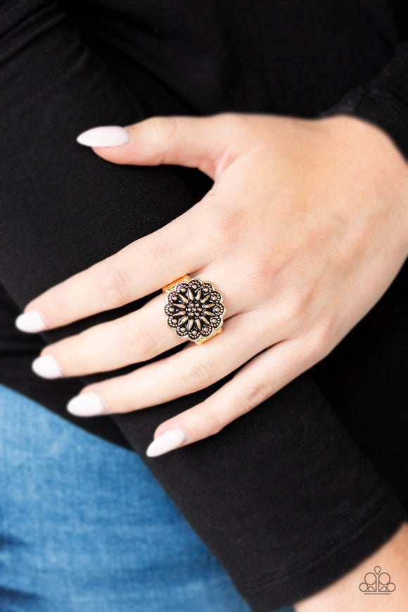 Desert Sunflower Gold Ring