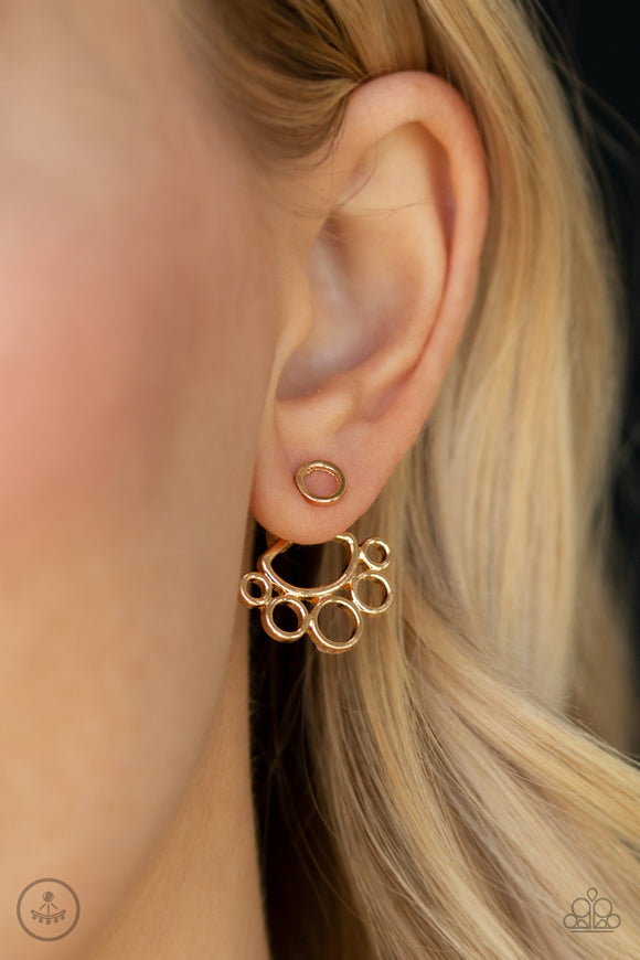 Completely Surrounded Gold Earrings