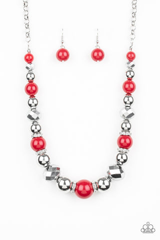 Weekend Party Red Necklace