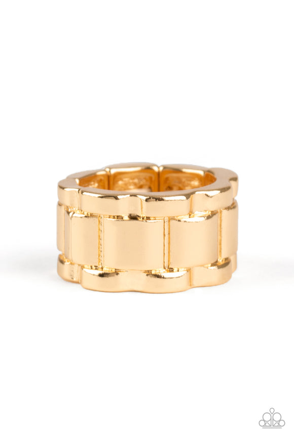 Modern Machinery Gold Ring