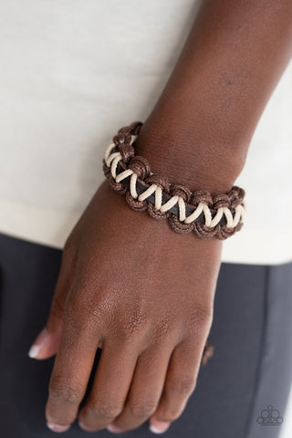 WEAVE It At That Brown Bracelet
