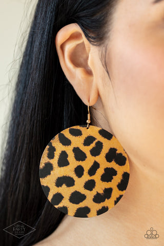 Doing GRR-eat  Brown Earrings