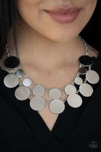 Stop and Reflect Silver Necklace