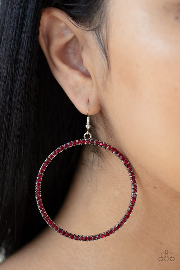 Just Add Sparkle Red Earrings