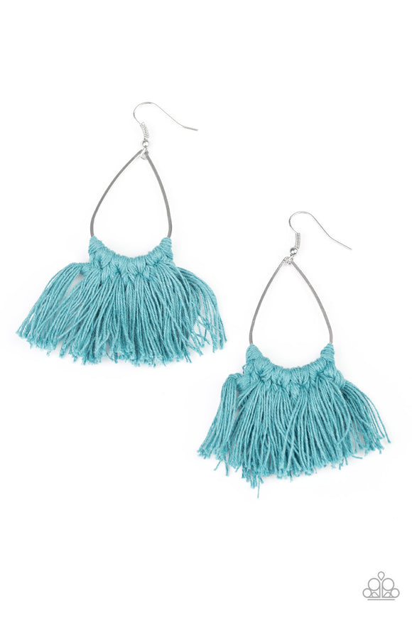 Tassel Treat Blue Earrings