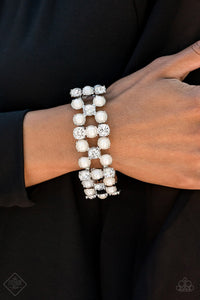 Diamonds and Debutantes White Bracelet