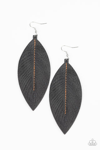 Naturally Beautiful Black Earrings