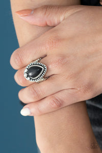 Backroad Bauble Black Ring