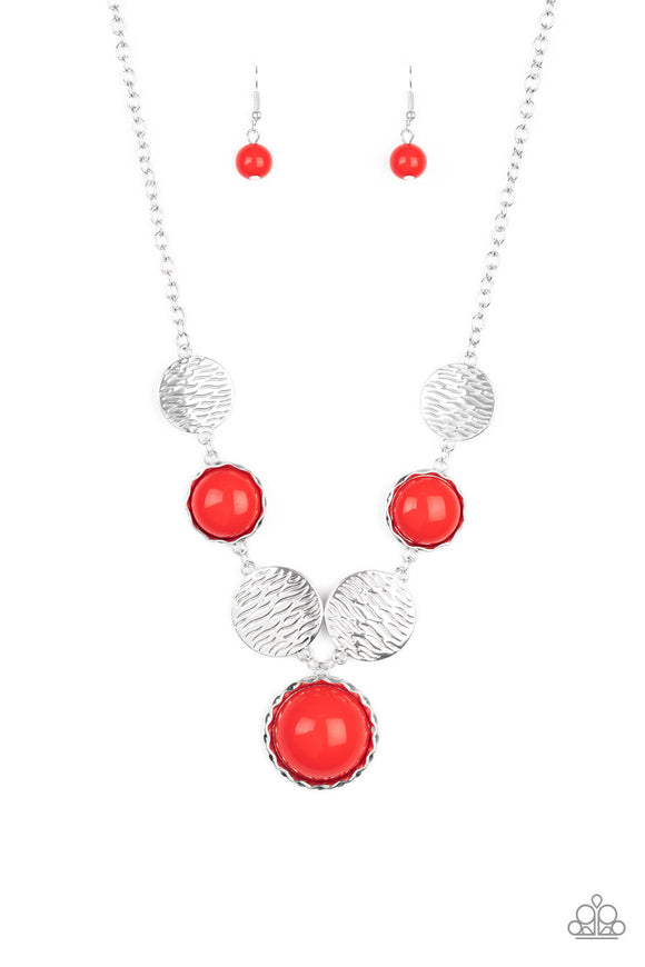 Bohemian Bombshell Red Necklace