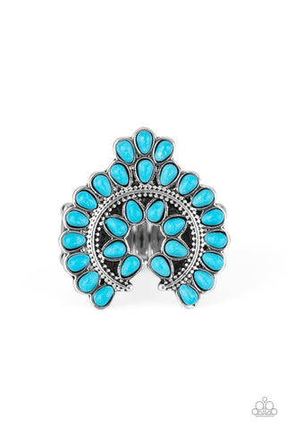 Trendy Talisman Turquoise Ring