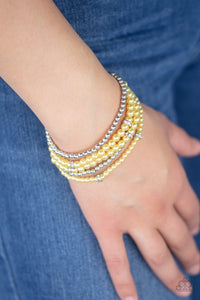 Fiercely Frosted Yellow Bracelet