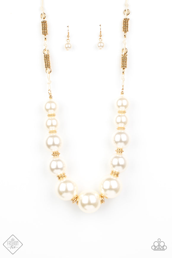 Pearly Prosperity Gold Necklace