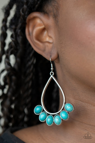 Stone Sky Blue Earrings