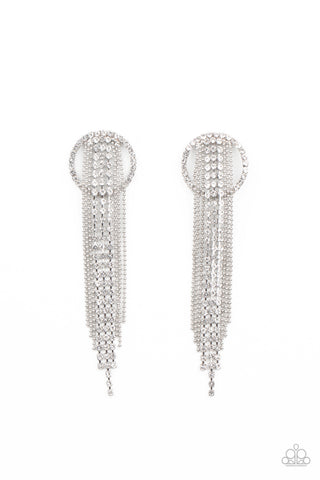 Dazzle by Default White Post Earrings