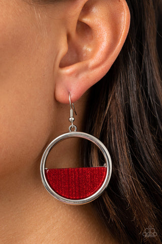 Stuck in Retrograde Red Earrings