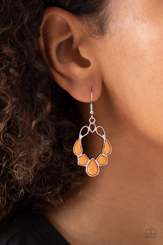 Its Rude to STEER Orange Earrings