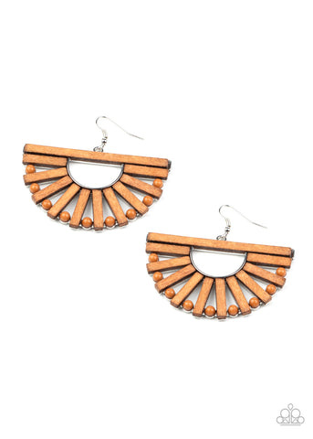 Wooden Wonderland Brown Earrings