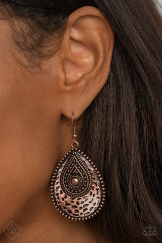 Rural Muse Copper Earrings