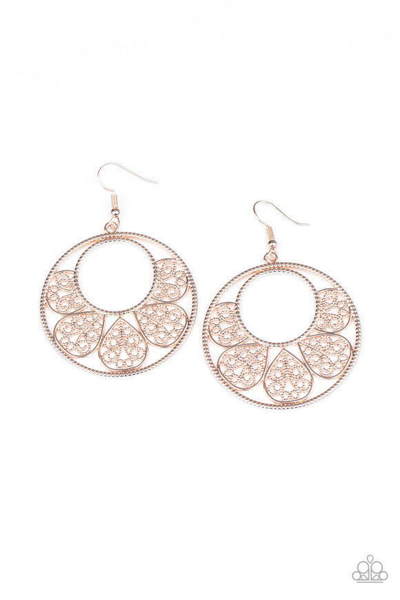 Petal Promenade  Rose Gold Earrings