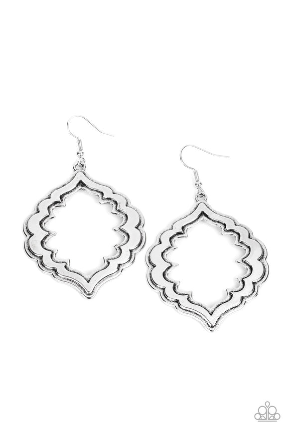 Taj Mahal Majesty Silver Earrings