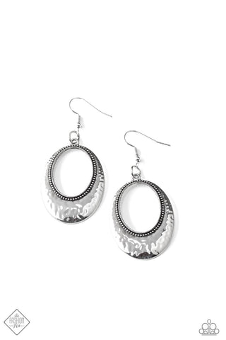 Tempest Texture Silver Earrings
