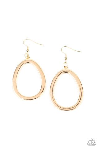 Casual Curves Gold Earrings