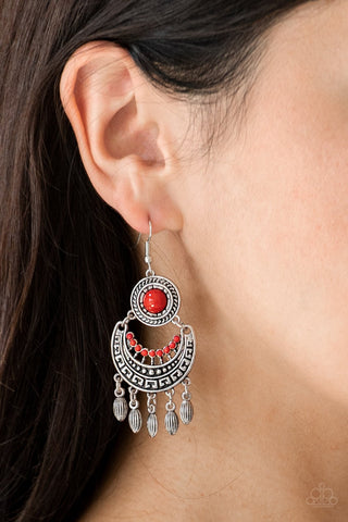 Mantra To Mantra Red Earrings