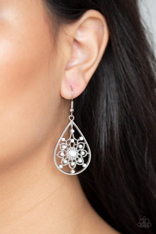 A Flair for Fabulous White Earrings