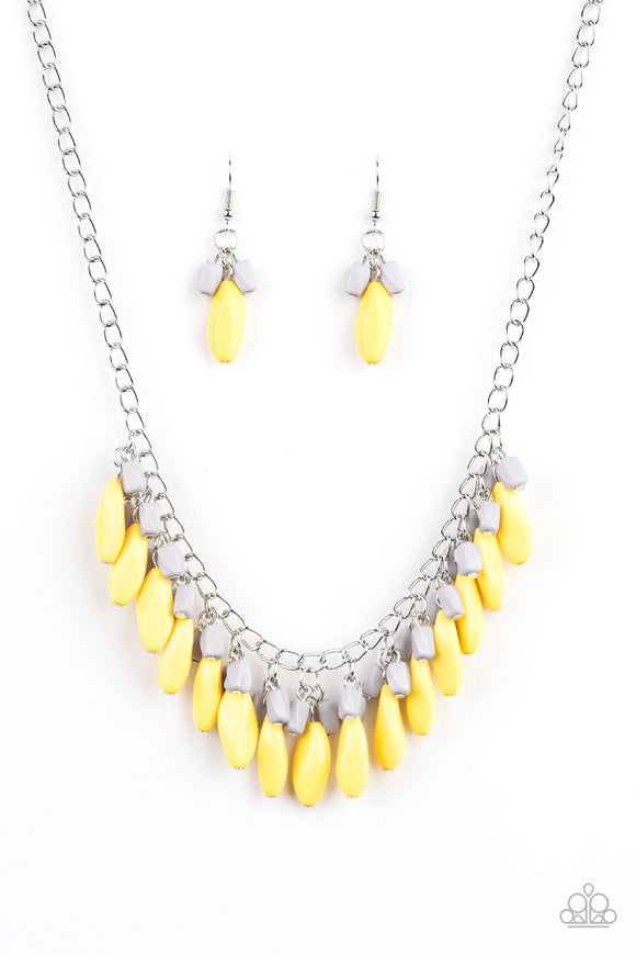 Bead Binge Yellow Necklace