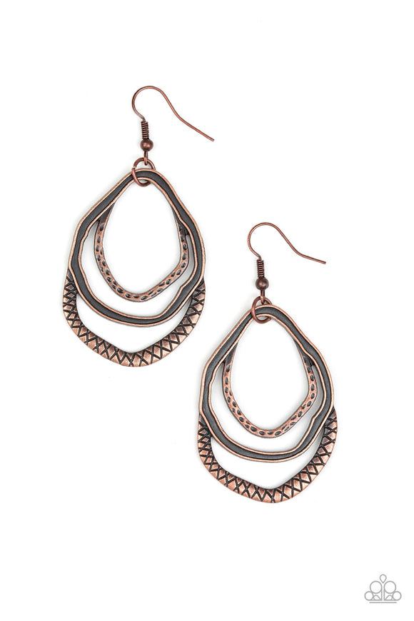 Canyon Casual Copper Earrings
