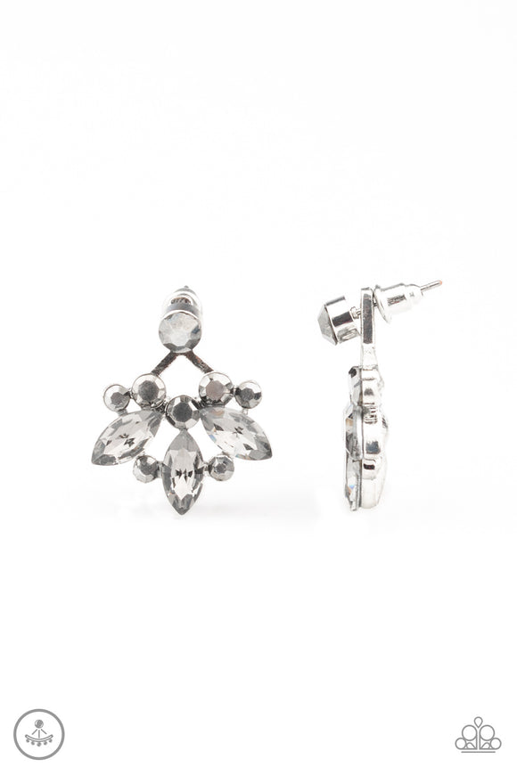 Crystal Constellations Silver Post Earrings