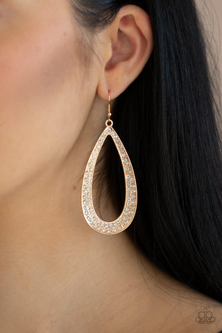 Diamond Distraction Gold Earrings