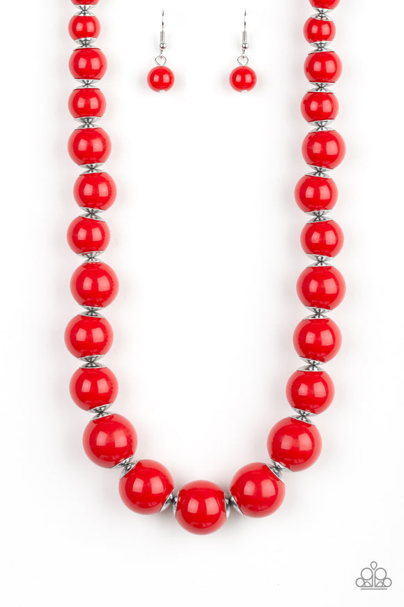 Everyday Eye Candy Red Necklace