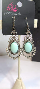 CAMEO And Juliet Blue Earrings