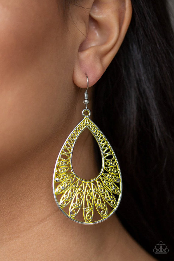 Flamingo Flamenco Yellow Earrings