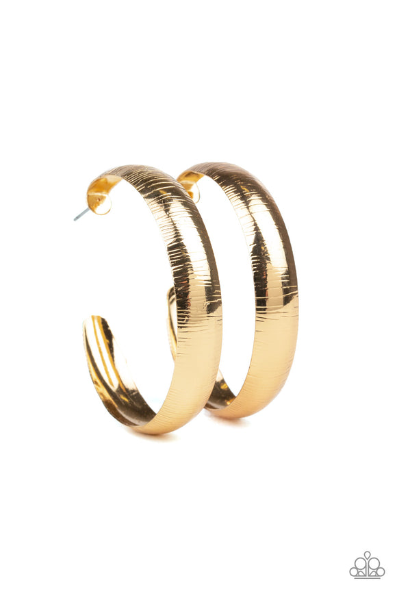 Hoop Wild Gold Earrings