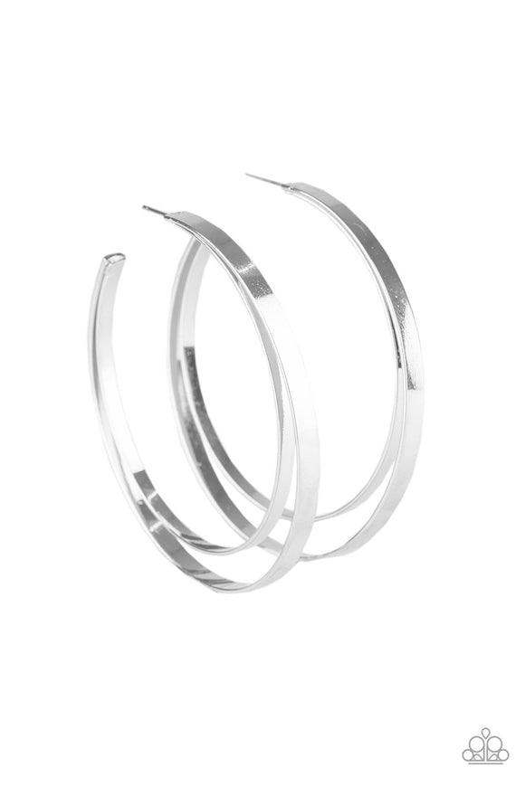 Moon Child Metro Silver Hoop  Earrings