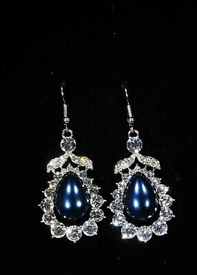 Award Winning Shimmer Blue Earrings