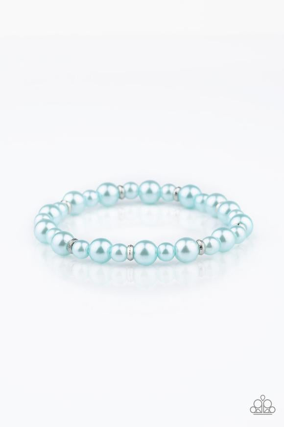 Powder And Pearls Blue Bracelet