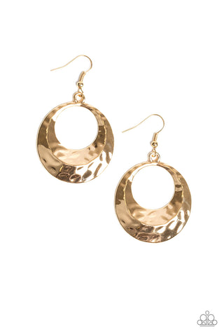 Savory Shimmer Gold Earrings